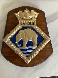 Royal Navy HMS Ganges ships crest