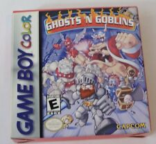 Ghosts 'n Goblins Nintendo Game Boy Color CIB Complete in box Game Manual