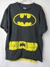 Batman Adult T Shirt with Cape Short Sleeve Crew Black Size XL #7383