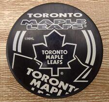 Toronto Maple Leafs Souvenir Hockey Puck ~ NHL Hockey Orange Logo