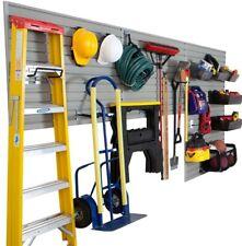 Modular Garage Organizer and Wall Storage Set w/ Accessories, Silver (26-Piece)