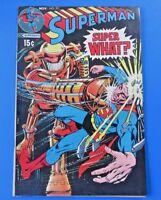 SUPERMAN #231 COMIC BOOK ~ DC BRONZE AGE 1970 ~ SUPER WHAT? ~ VF