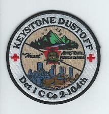 """DET 1 C CO 2-104th """"KEYSTONE DUSTOFF"""" patch"""