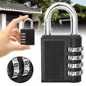Combination Padlock Combi Code Number 4-Digit Lock Security Locker Luggage Gym