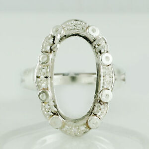 Semi Mount 18x10MM Oval Shape Cabusion Cut Ring 925 Sterling Silver Jewelry