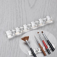 Clear Nail Art Tool Brush Rack Acrylic Stand Holder Organizers for 5 Nail Pens