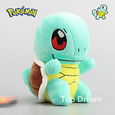 New Pokemon Squirtle Plush Toy Soft Stuffed Animal Doll 6'' Teddy Kids Xmas Gift