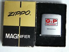 VINTAGE ZIPPO MAGNIFIER G & P MACHINERY INDIANAPOLIS IN ORIGINAL BOX