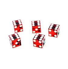 Blue Casino CRAPS Dice 19mm Razor Edge Foil Wrap Stick ZVOS012 FREE SHIP 5pcs