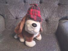 Dakin Basset Hound Dog 1978 Red Plaid Hat plush