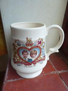 Princess Diana royal wedding 1981 pint mug.