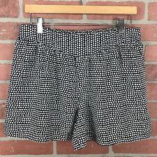 Halogen Women's Small Triangle Shorts Black White Side Pockets Elastic Waist