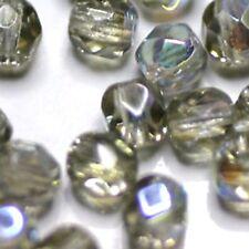 """60 FACETTES Cristal de Bohême 4MM  BLACK DIAMOND """"AB"""""""