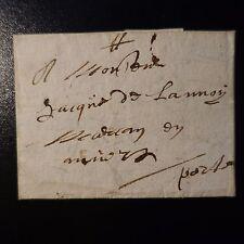 """1668 LETTRE COVER MARQUE POSTALE """"PORT"""" MANUSCRIT DE TOURCOING POUR ANVERS"""