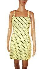 PINKO Italy Woman Yellow Retro Look Casual Pencil Dress Square Neck sz 12 M AD31