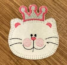 Katze König Bügelbild Aufnäher Applikation Patch Nähen Basteln Verzieren