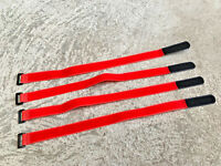 25mm X 500mm RC Rubberized Battery Straps 4 Pack Red / Black