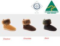 UGG Australia Mini Fox Short Ankle Women Ugg Boots 3-Colour Options RRP $207.00