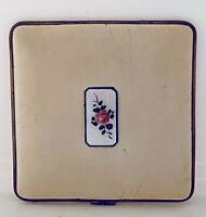 Vintage Enamel Powder Compact Guilloche Enameled BB Co.