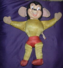 IDEAL MIGHTY MOUSE  STUFFED FIGURE  C. 1960  TAGGED  14 INCHES