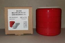 Rexite - Multiplor 900 Rosso . Portaoggetti NUOVO con scatola . Des. Pirovano