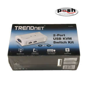TRENDnet- TK-207K- 2-Port USB KVM Switch Kit- NEW! Free Same Day Shipping!