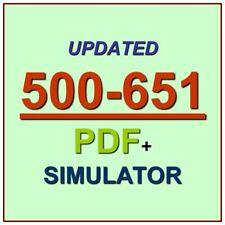 Cisco Security Architecture Systems Engineer SASE Test 500-651 Exam QA PDF+SIM