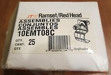 """Ramset / Red Head 10EMT08C 1"""" EMT Clip For Powder Actuated Tools - New Box of 25"""