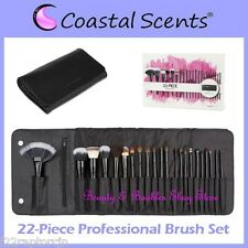 NEW Coastal Scents 22-Piece PROFESSIONAL BRUSH SET w/Case FREE SHIPPING Makeup