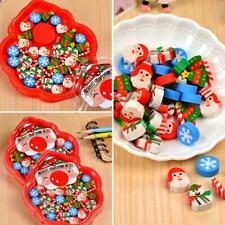Stationery Gift  Christmas Style Animal Cartoon Shape Pencil Eraser Rubber Best