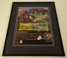 Jet Moto 3 1999 Playstation PS1 Framed 11x14 ORIGINAL Advertisement