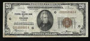 US - National Currency (FRBN) 1929 - Chicago Fed VF