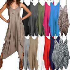 Viscose Patternless Playsuit Jumpsuits & Playsuits for Women