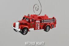 Custom Red 1963 Mack B Fire Truck Engine Christmas Ornament 1/64th Adorno NEW!