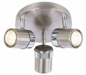 🆕💡Satin 3 Way Round Plate Interior Ceiling Spotlight adjustable light