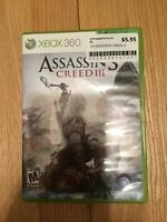 ASSASSINS CREED III - XBOX 360 - COMPLETE W/MANUAL - FREE S/H (M)