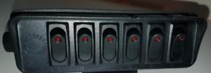 Marine-Car-Truck-Boat 12V DC 40A 6-Gang ON/OFF Rocker Switch Box