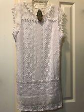 White Lace Dress Size XXLarge