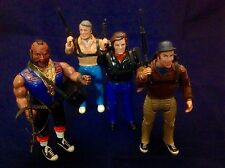 The A Team Action Figures RARE Vintage. All Four Members And Accessories