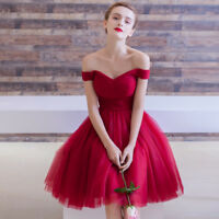 Short Tulle Bridesmaid Formal Gown Ball Party Evening Prom Dress
