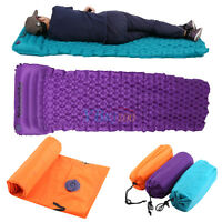Lightweight Inflatable Camping Tent Air Mat Sleeping Bag Pad Mattress Hiking SG