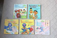 Lot 5 Vintage Sesame Street Ernie Bert Elmo Grover Paperback Books