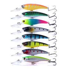 8PCS Lot 9cm/8.3g Fishing Lure Hard Bait Minnow Bass Tackle Swimbait Wobbler