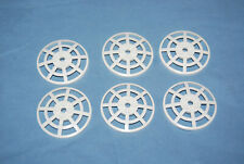 R Lego 4285b Radar Dish Lot 6 White 6 x 6 Inverted Webbed 5979 7754 7699