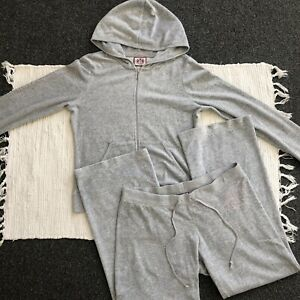Juicy Couture Tracksuit, Grey Size M Bottoms, L Hoodie