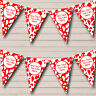Cow Print Animal  Red White Children's Birthday Party Bunting Banner