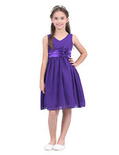 Formal Girls Bridesmaid Dresses Wedding Party Ball Prom Gown Long Cocktail Dress