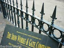 # BUCKINGHAM 5ft LONG 2ft TALL WROUGHT IRON METAL FENCING RAILING PANELS HEAVY