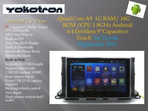 """""""YOKOTRON"""" """"9"""" for Toyota Kluger 2013-2015 Android Car Player+GPS"""