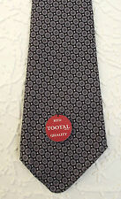 Mens vintage tie PURE COTTON Tootal tie UNUSED 1950s RED QUALITY patterned short
